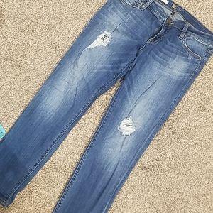 KFTK Catherine Boyfriend distressed jeans